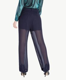Drainpipe trousers Dark Blue Woman PS823A-03