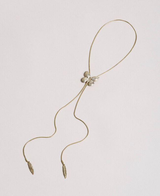 Collier avec papillon et pendentifs Cristal Femme 191TA4314-01