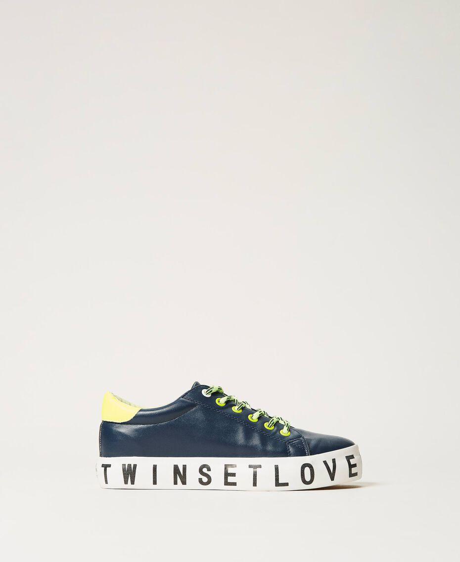 Sneakers mit Logo Blackout Blau Frau 202LIPZCC-02