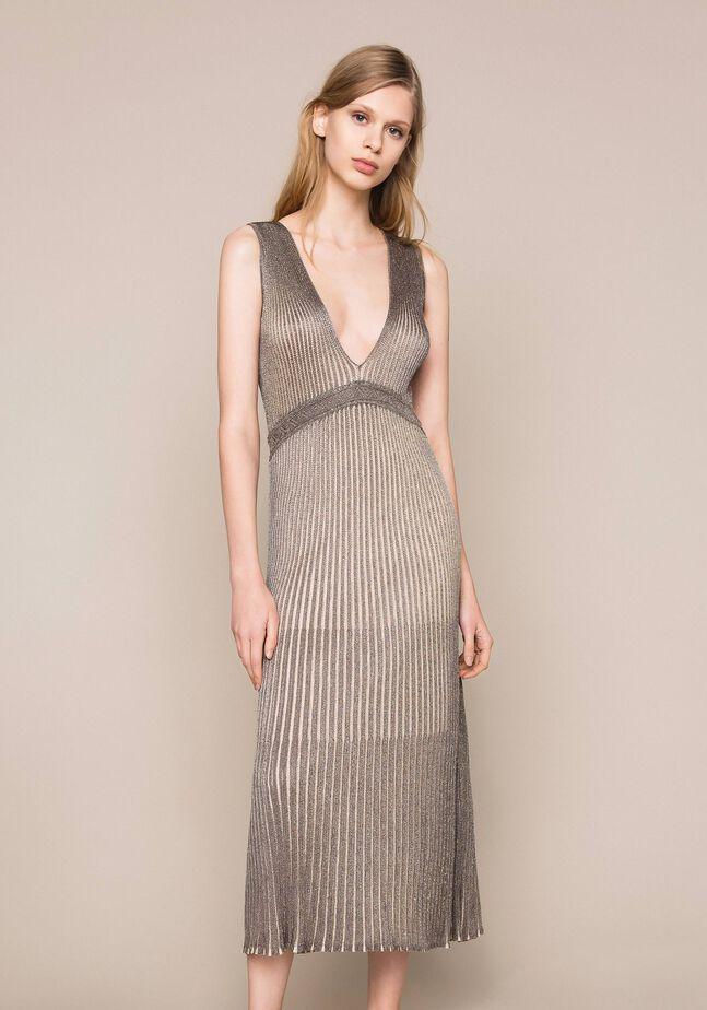 Lurex thread long dress