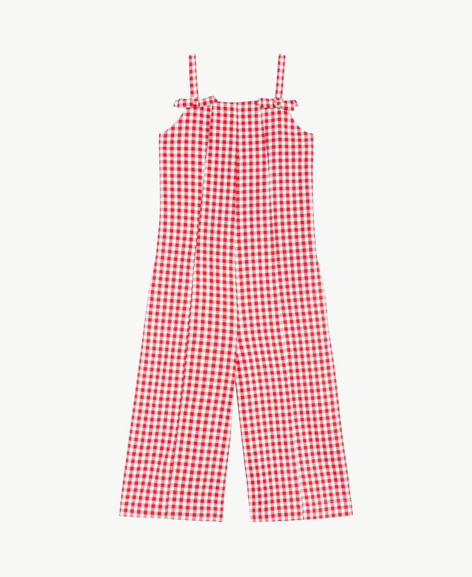 Gingham jumpsuit Gingham / Pomegranate Red Jacquard Child GS82ZD-01