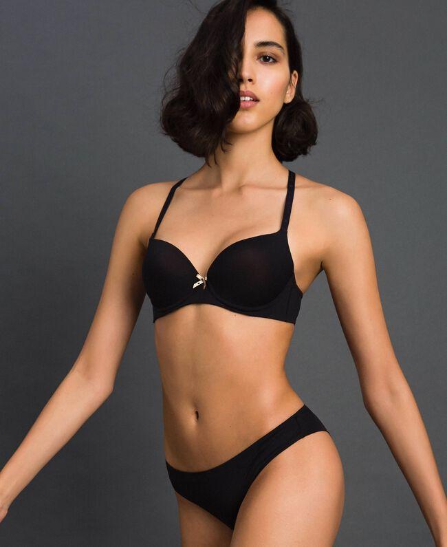 Brazilian-Slip Schwarz Frau LCNN77-01