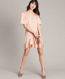 "Flounce and ruffle dress ""Nude"" Beige Woman 191TP2697-01"