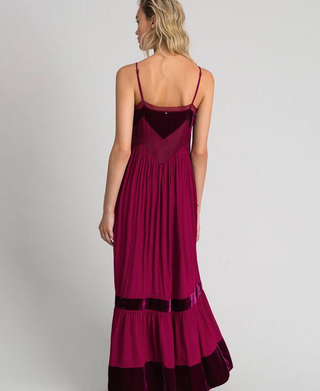 Robe nuisette avec détails en velours Rouge Velours Femme 192TT2280-03