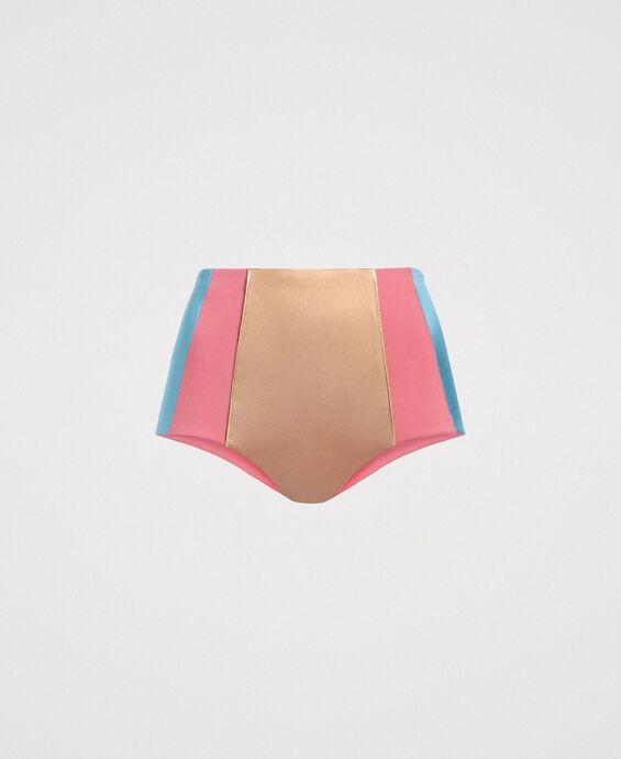 High waist colour block bikini bottom