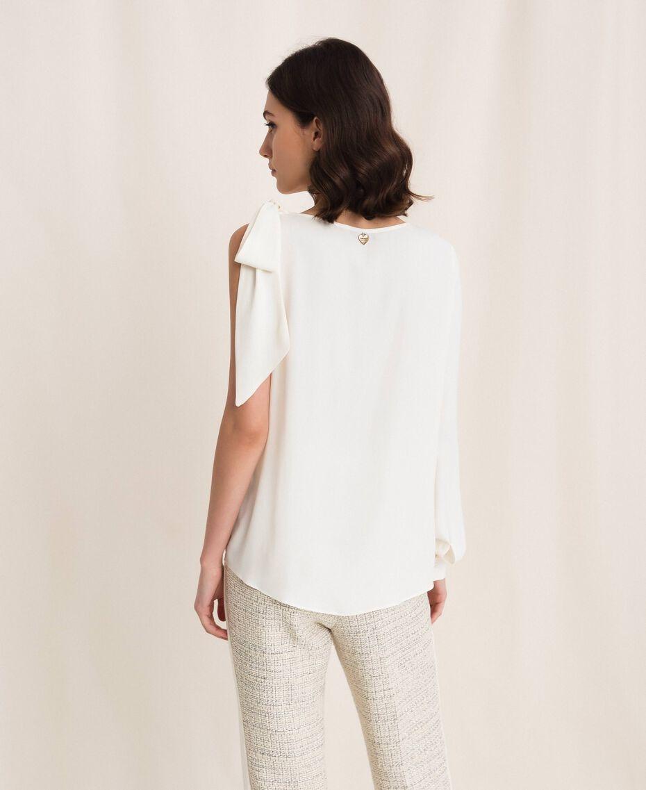 One-shoulder silk blouse White Snow Woman 201TP2500-02