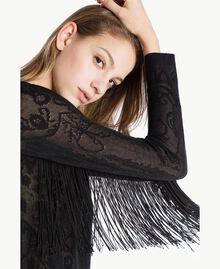Jacquard tunic Black Woman TS835A-04