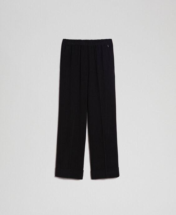 Pantalon en crêpe georgette