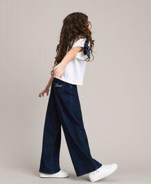 Jeans mit weitem Bein Dunkles Denim Kind 191GJ2600-0S