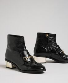 Patent leather ankle boots Black Woman 192TCP122-01
