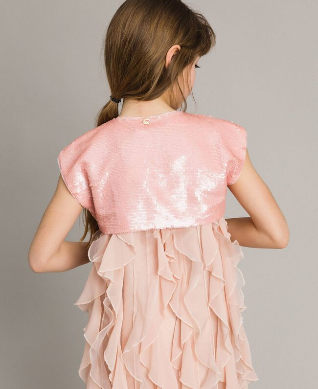 check out 9a33d f016f Coprispalle in full paillettes Bambina, Rosa | TWINSET Milano