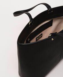 Sac cabas en similicuir avec foulard Noir Femme 201MA7080-06
