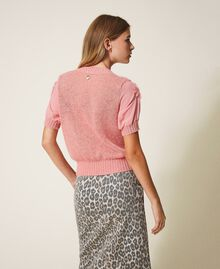 "Mohair jumper with embroidery ""Peach Blossom"" Pink Woman 202TP3261-03"