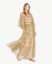 Robe soie Imprimé Jaune Grand Cachemire Femme TS825P-05