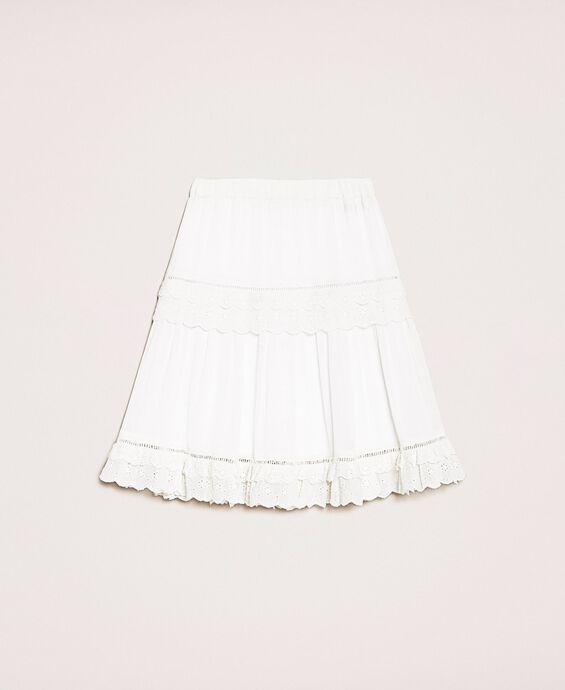 Creponne skirt with broderie anglaise