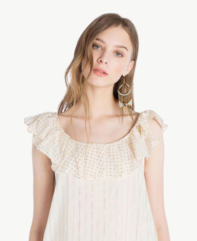 Jacquard blouse Two-tone Mid Melange Grey / Light Gold Woman TS8263-04