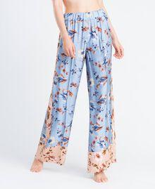 Широкие брюки с набивным цветочным рисунком Набивной Розовый Цветочная Смесь женщина IA8EXX-0S