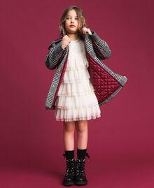 Parka en laine mélangée pied-de-poule Pied de Poule Blanc / Noir Enfant 192GJ2110-0T
