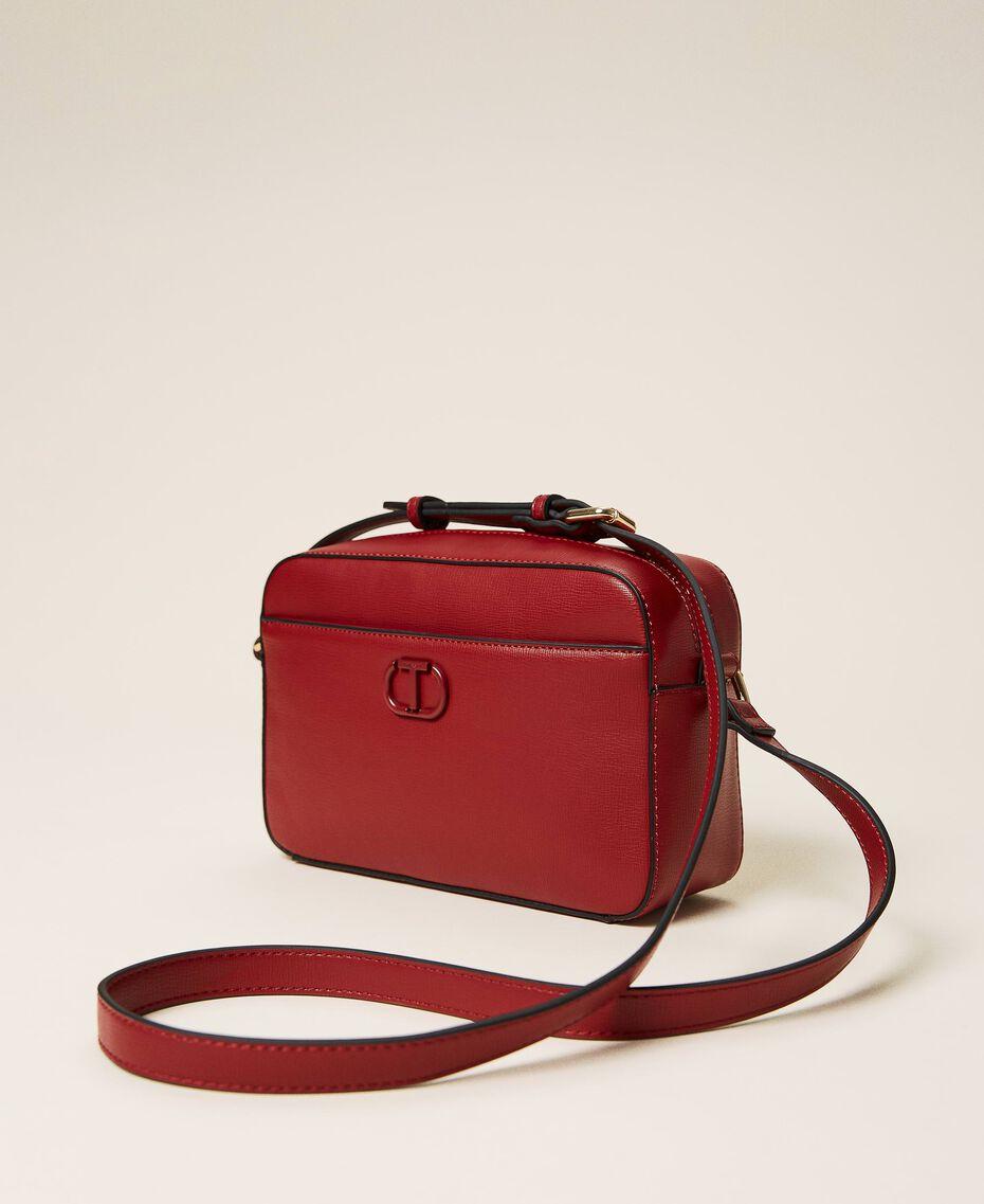 "Shoulder bag with pocket ""Geranium"" Red Woman 212TB7067-01"