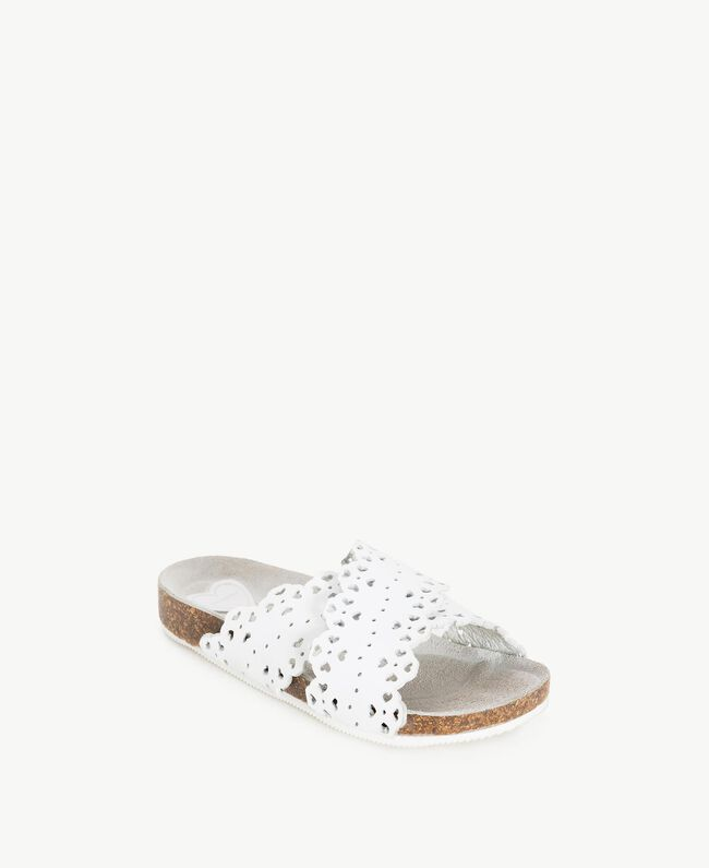"Mules feston Blanc ""Papers"" Enfant HS88CS-02"