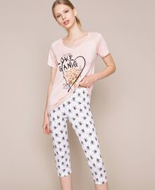 Floral print pyjamas Black Print Woman 201LL24CC-01