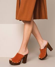 Suede sabots Terracotta Woman 201MCT01G-0T