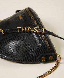 Sac à bandoulière en cuir animalier Imprimé Python Noir Femme 202TD8021-03