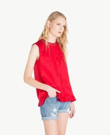 Ruched top Vermilion Red Woman JS82QP-02