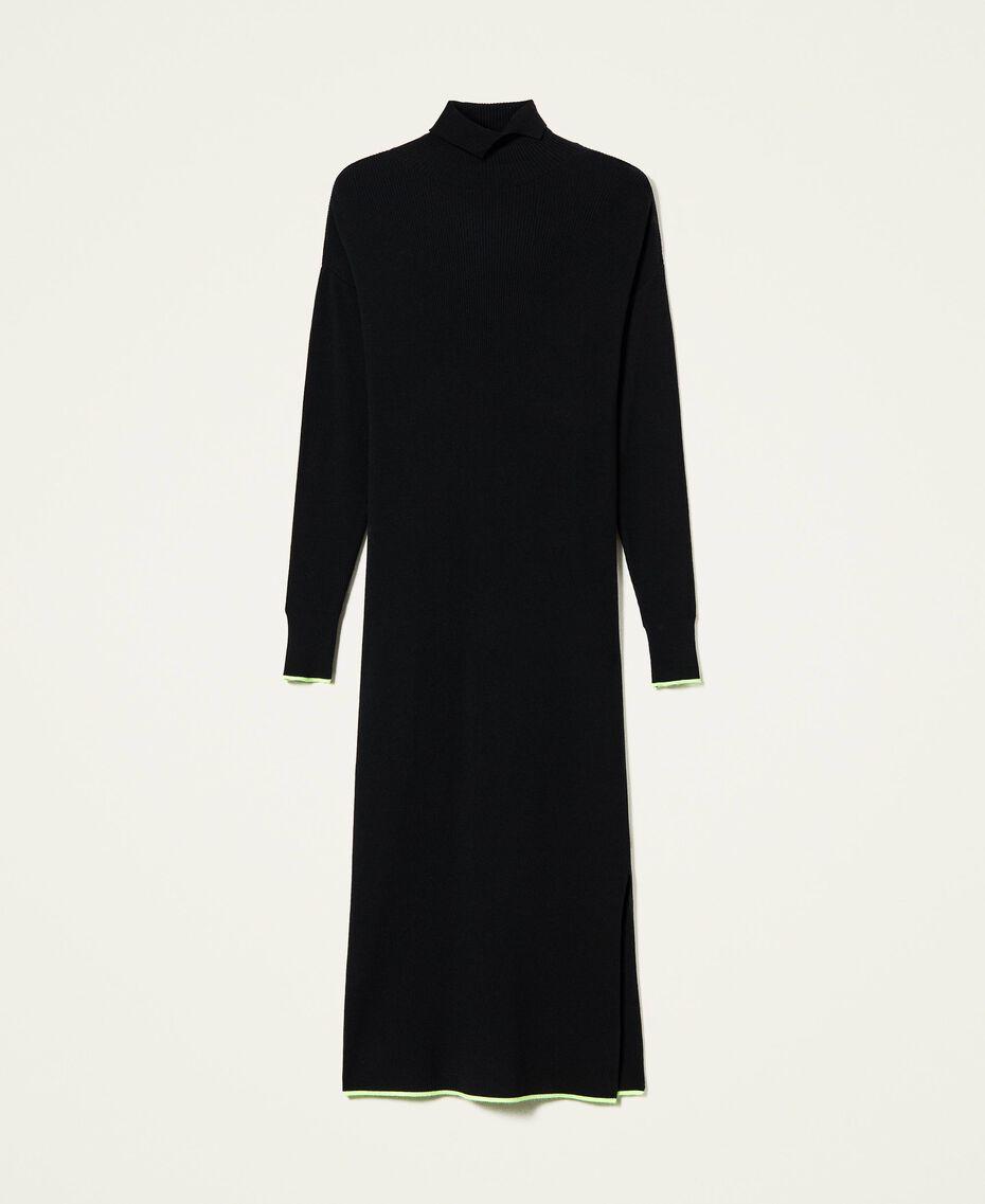 Robe longue côtelée Noir Femme 212AT3104-0S
