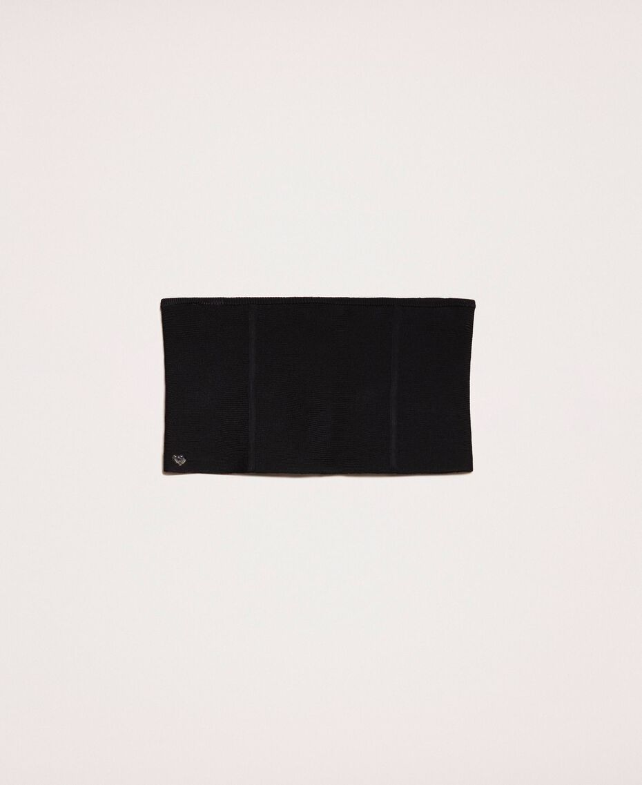 Corpiño de punto elástico con cremallera Negro Mujer 201MA4354-02
