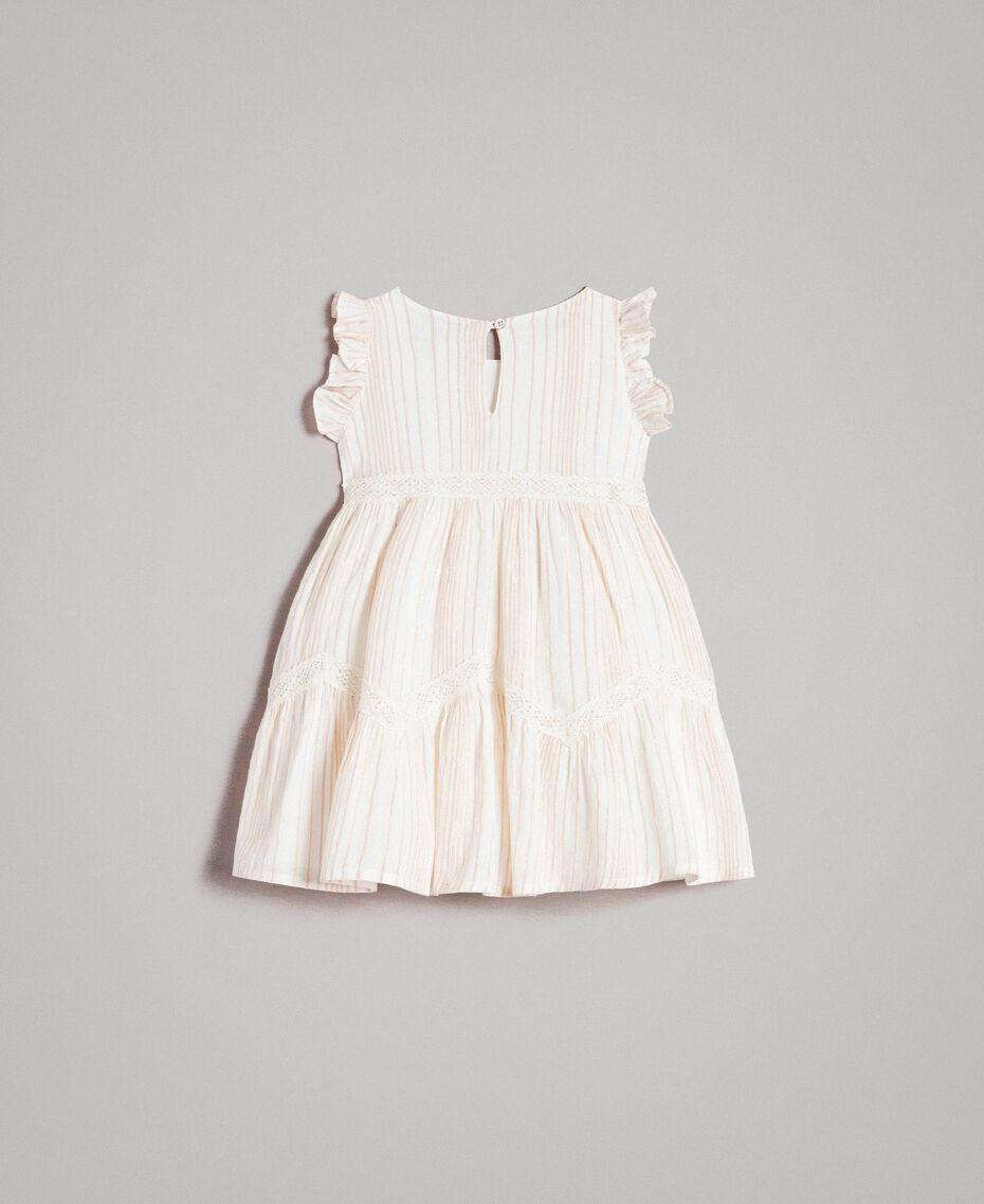 """Geknüpftes Lurex-Musselin-Kleid mit Streifen """"Wooden Stick"""" Jacquard Kind 191GB2551-0S"""