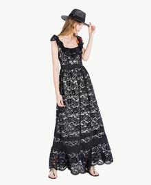 Langes Kleid aus Spitze Schwarz Frau TS828N-05