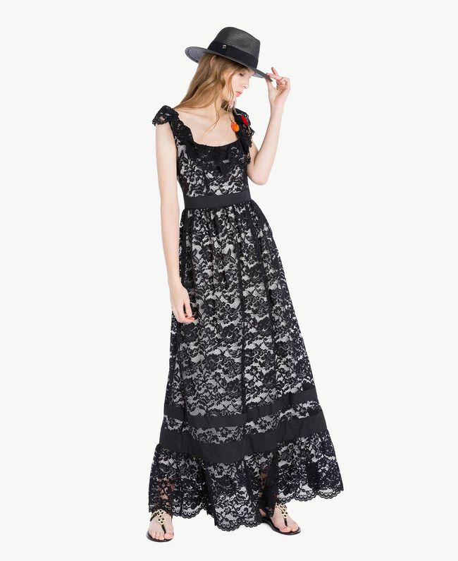 Long lace dress Provocateur Pink Woman TS828N-05