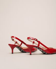 Patent leather slingback court shoes Venetian Red Woman 201MCP01C-02