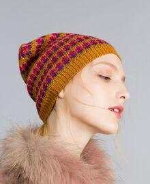 Bonnet jacquard multicolore Rayure Jacquard Camel Femme OA8T67-0S