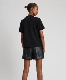 T-shirt avec franges en sequins Noir Femme 192MT2350-02
