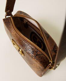 Animal print leather shoulder bag Leather Whips Print Woman 212TB7292-05