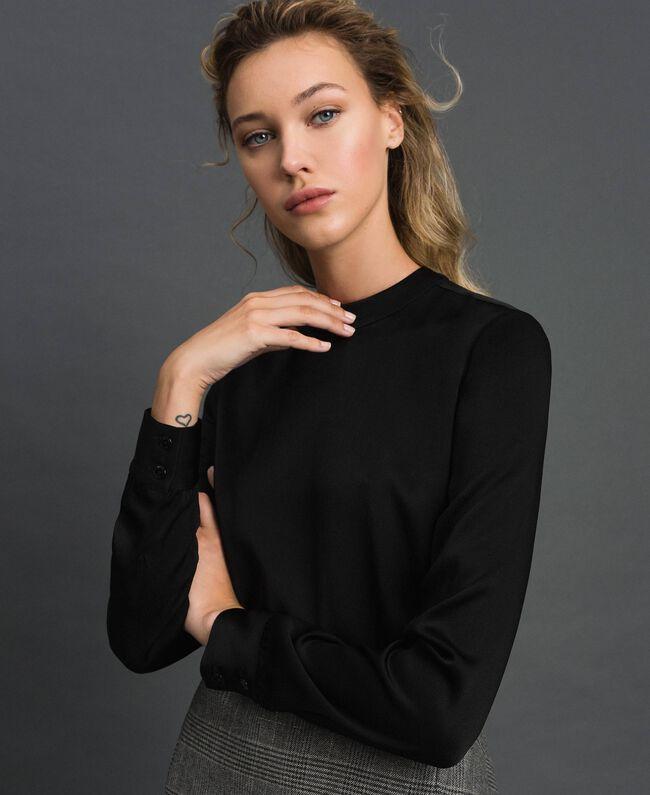 Cady and glen plaid dress Lurex Dark Grey Wales Design Woman 192TT2448-04
