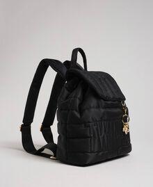 Sac à dos matelassé avec charms et logo Noir Femme 192TO8062-01