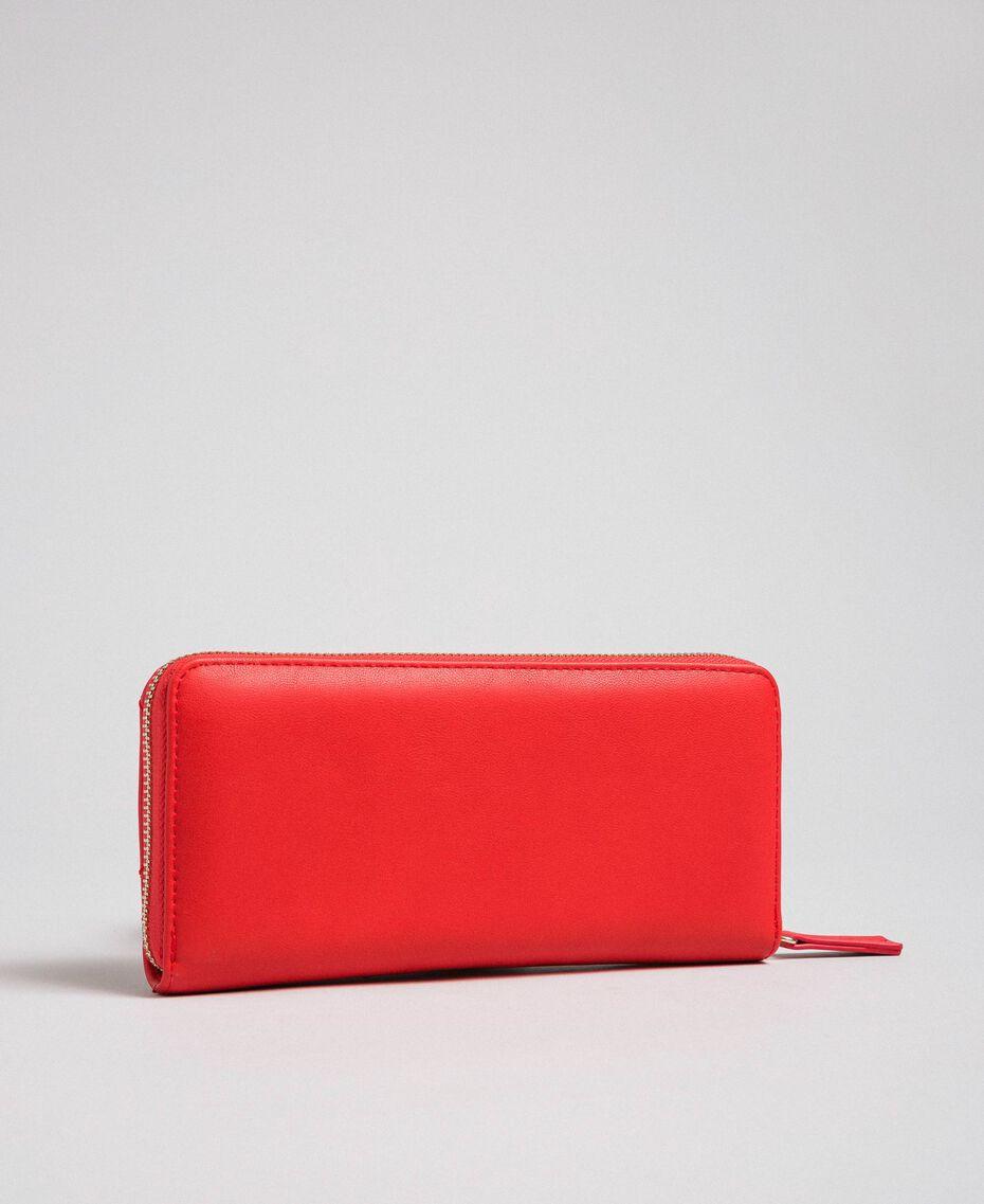 Portefeuille en similicuir Rouge Coquelicot Femme 192MA7087-02