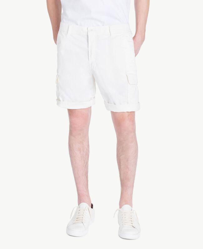 Bermuda coton Blanc Opaque Homme US823A-01