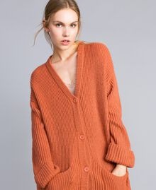 "Cardigan in misto mohair Rosso ""Redwood"" Donna SA83BC-03"