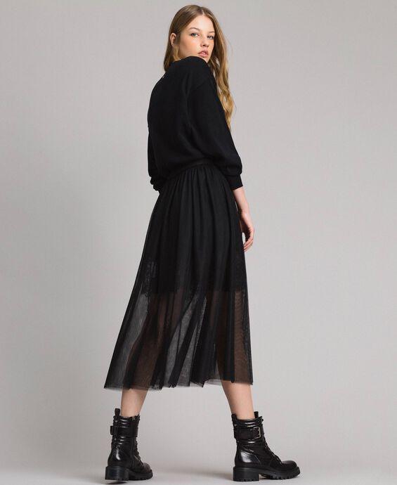 Tulle mid-length skirt