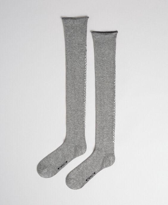 Chaussettes hautes avec pierres