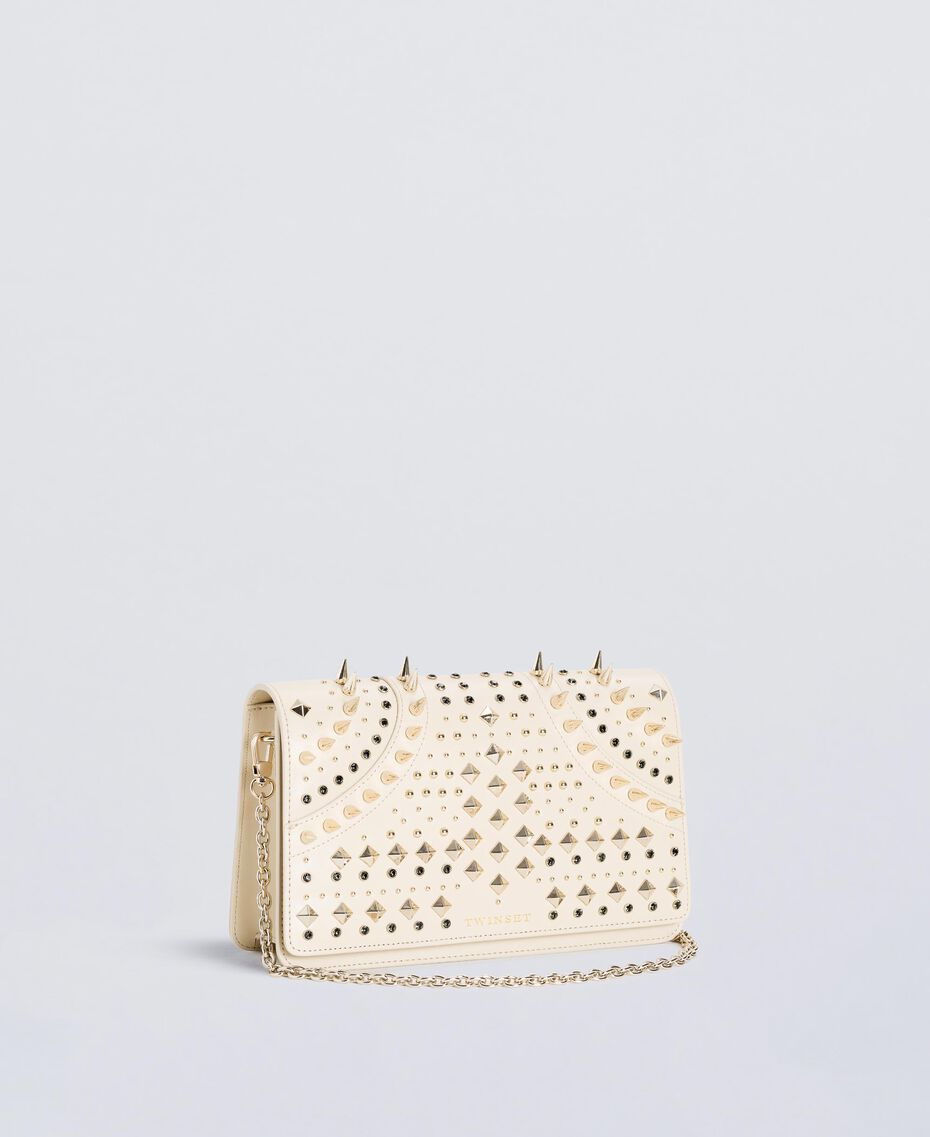 Studded clutch bag Ivory Woman OS8TLB-02