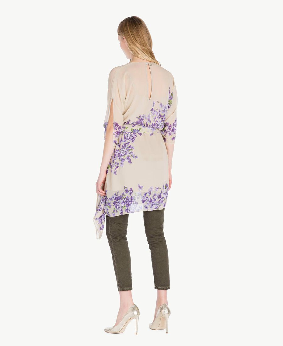 Printed kaftan Violet Edge Print Woman PS82XN-03