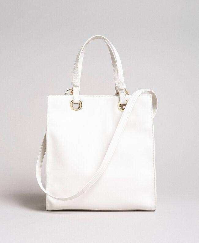 Mon Coeur Tote-Bag aus Lederimitat Weiß Vanille Frau 191TQ701A-03