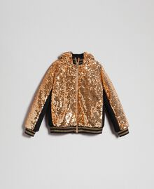 "Velvet bomber jacket with sequins ""Spelt"" Beige Child 192GJ2090-0S"