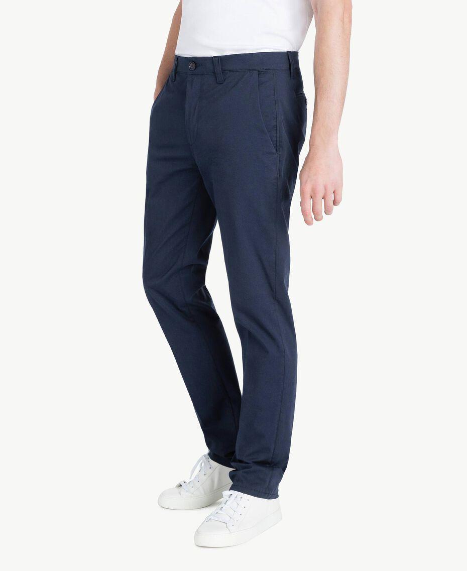 Pantalone chino Blu Blackout Uomo US824N-02