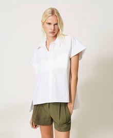 Oversize poplin shirt White Woman 211TT245E-02